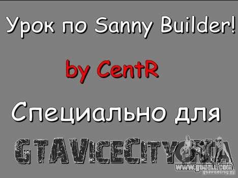 Lesson to Sanny Builder v3.04