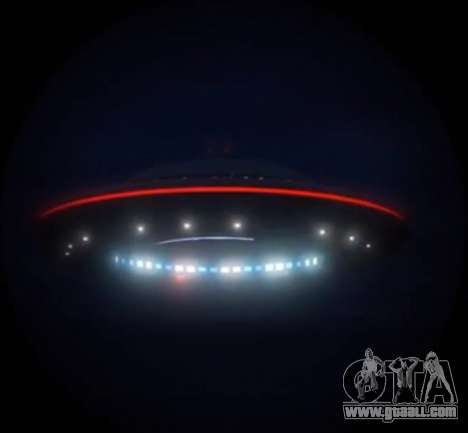 GTA V Flying saucer (UFO) over the mountain Chiliad