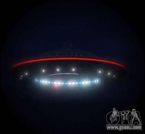 GTA V Fliegende Untertasse (UFO) über den Berg Chiliad