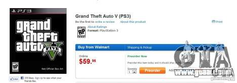 Walmart published another release date GTA 5