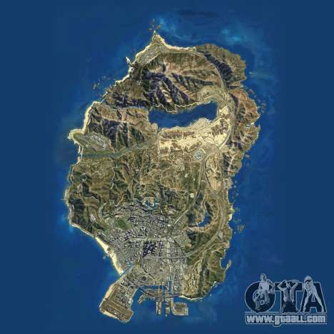 Satellite map of Grand Theft Auto 5