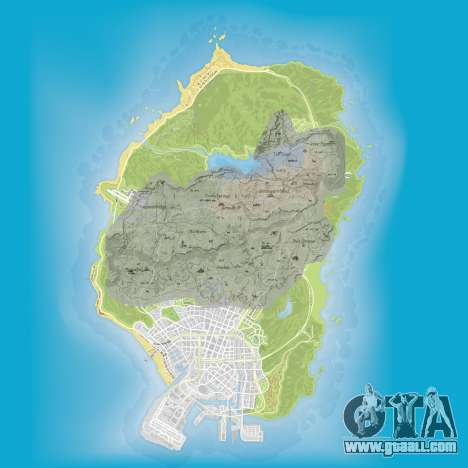 a Comparison of the sizes of maps of GTA 5 and Red Dead Redemption