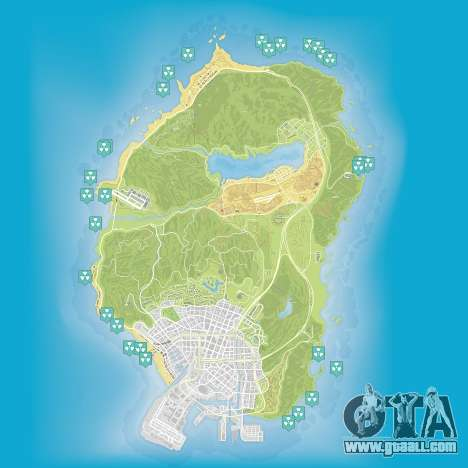 Map of nuclear waste in Grand Theft Auto 5