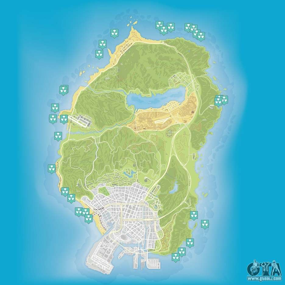 Map grand theft auto v - Gta 5 Map Of Nuclear Waste