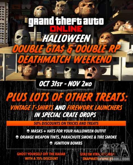 Halloween in GTA Online: bonuses, contests