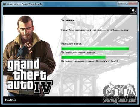 GTA 4 for Windows: release PAL-version