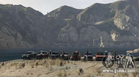 Team video GTA 5: drivers, robbers