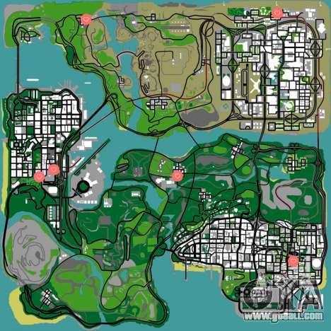 GTA San Andreas girls map