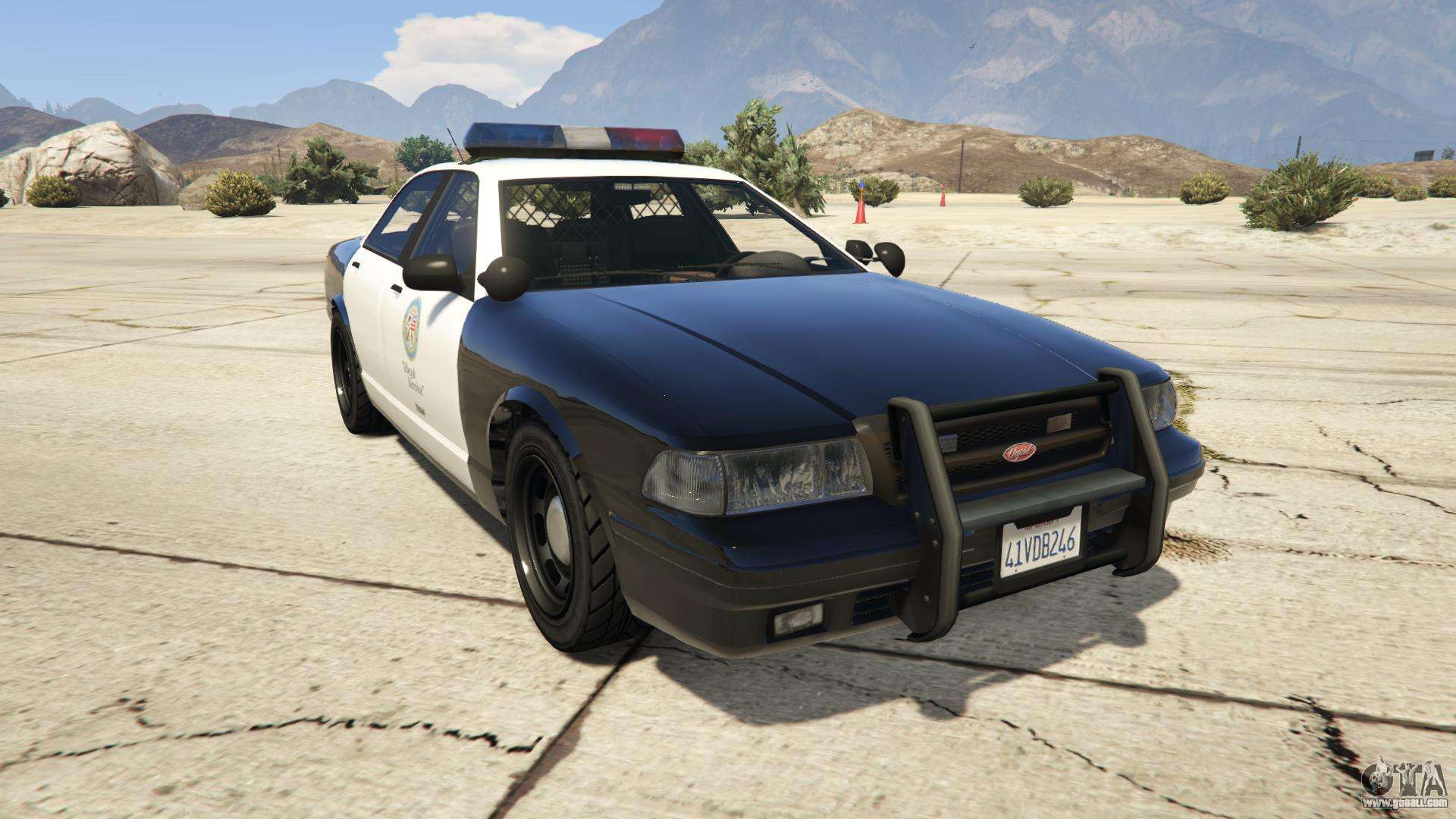 GTA 5 Vapid Police Cruiser - front view