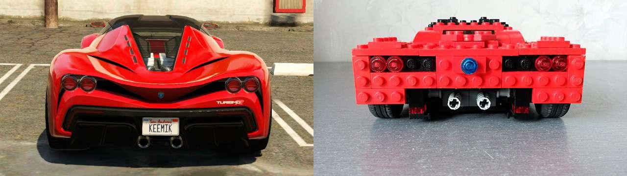 Lego Grotti Turismo R - rear view
