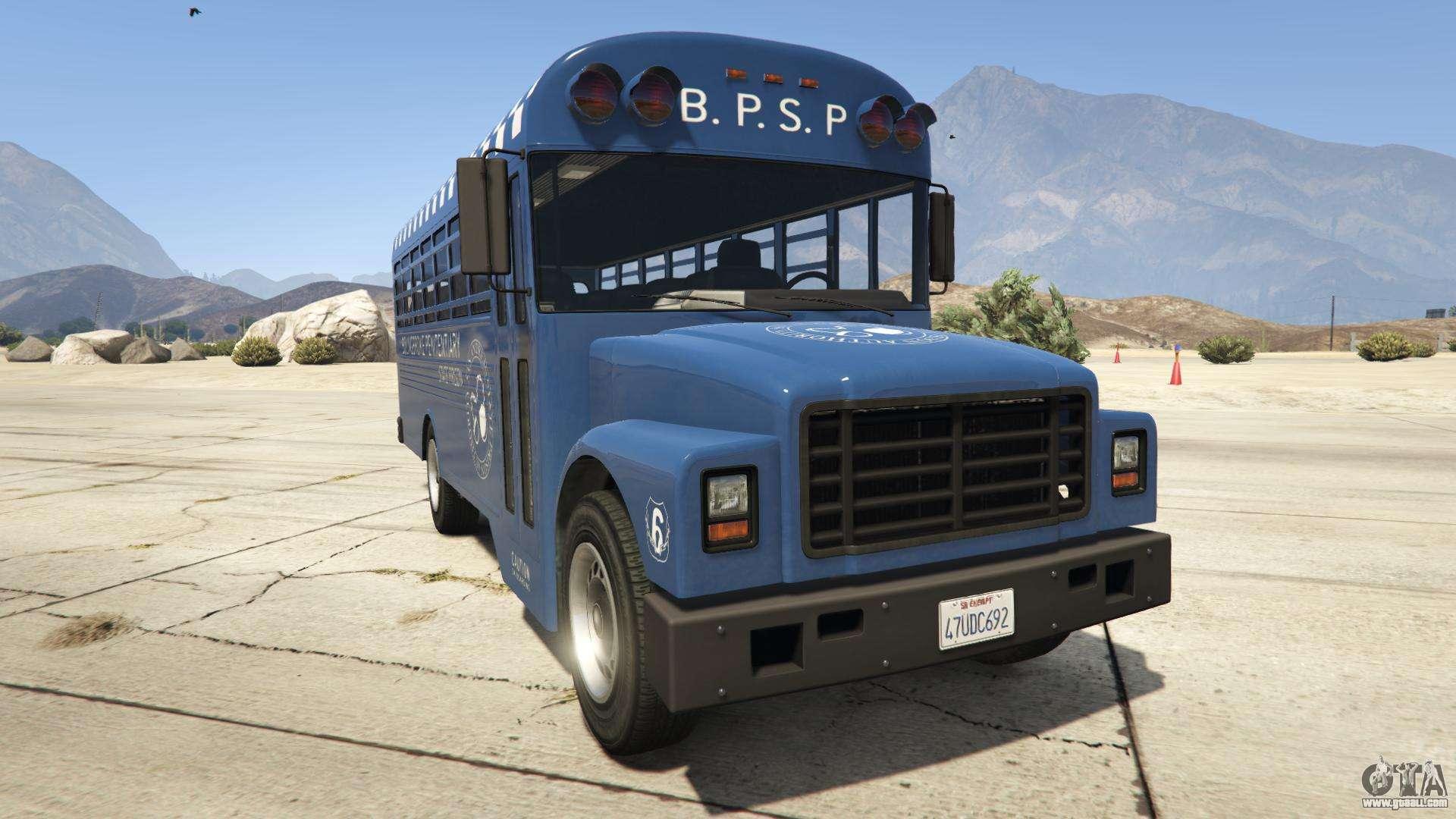 GTA 5 Vapid Prison Bus - front view