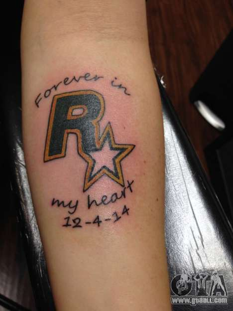 Rockstar Games Tattoo
