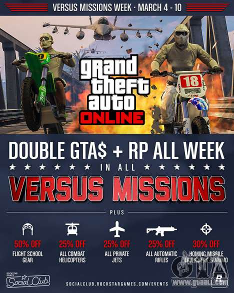 Versus Missions Week in GTA Online