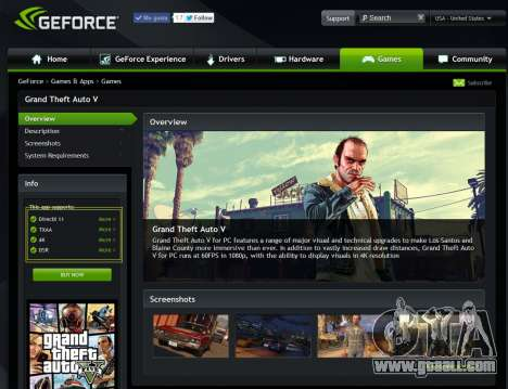 GeForce Experience drivers for GTA 5