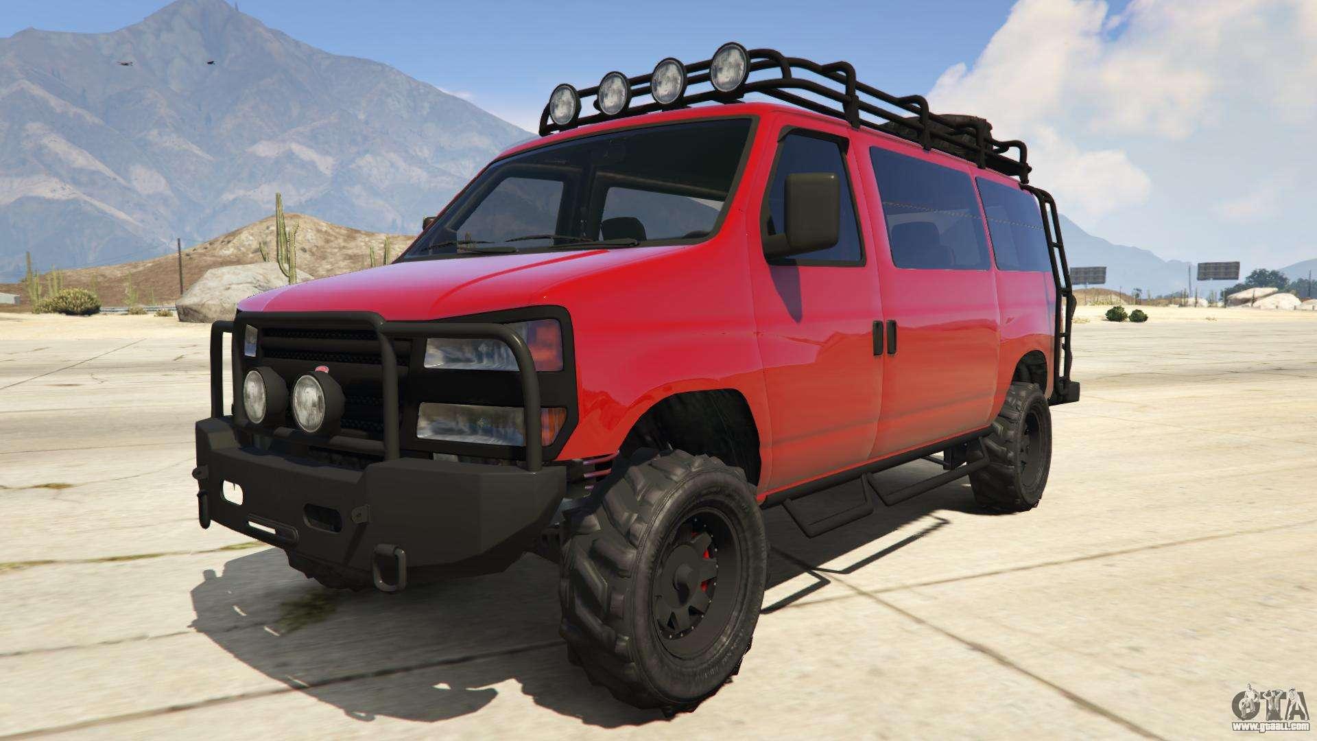 Bravado Rumpo Custom from GTA Online - front view
