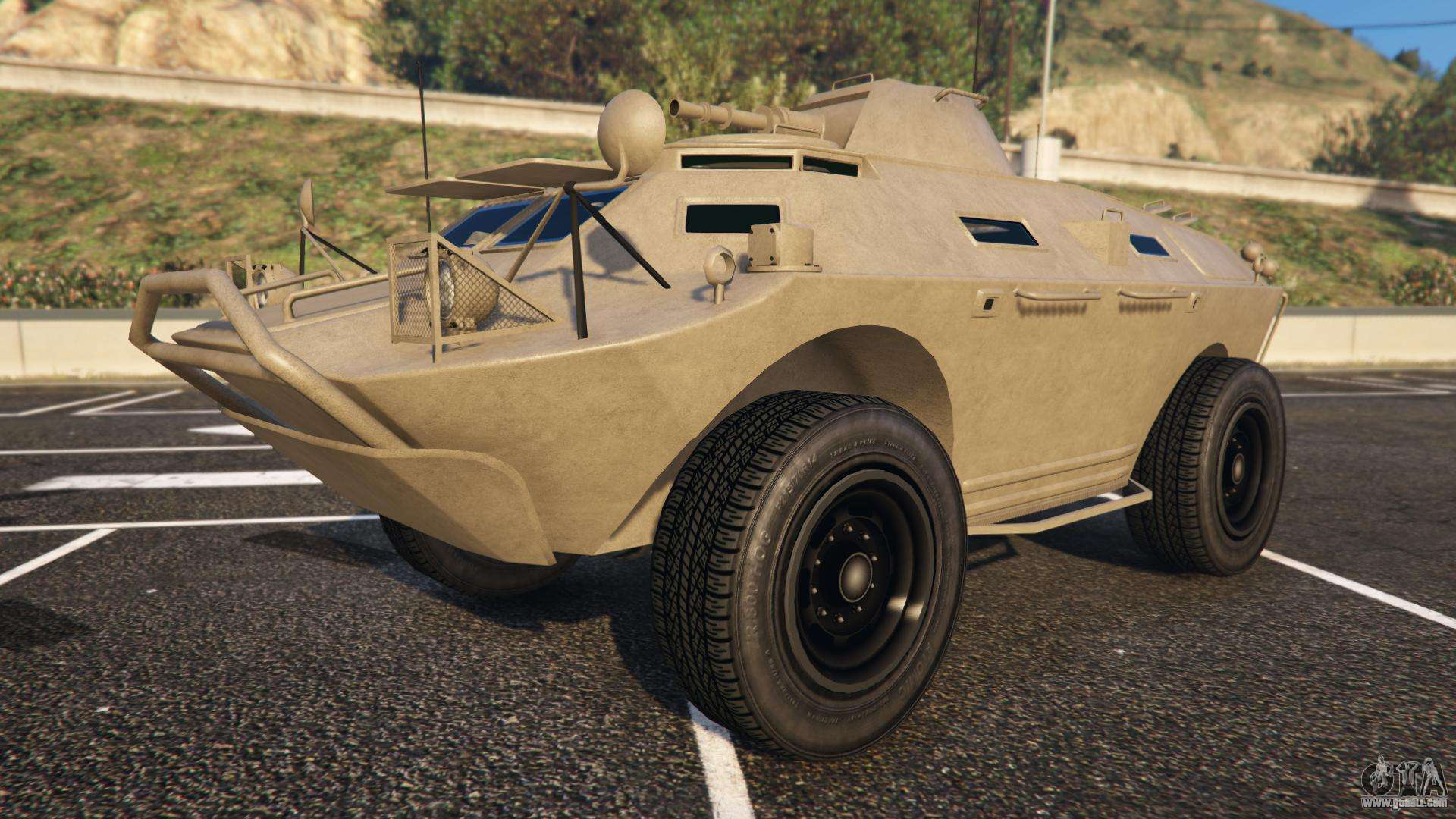 HVY APC from GTA 5 front view