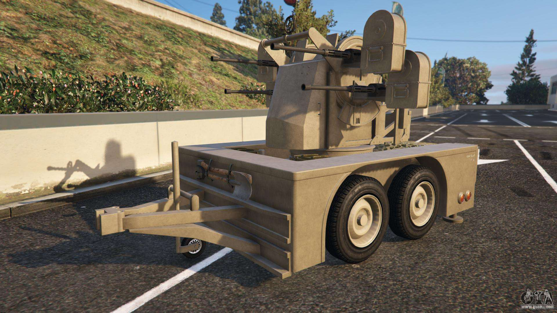 features description and screenshots of vom feuer anti aircraft trailer from gta 5. Black Bedroom Furniture Sets. Home Design Ideas