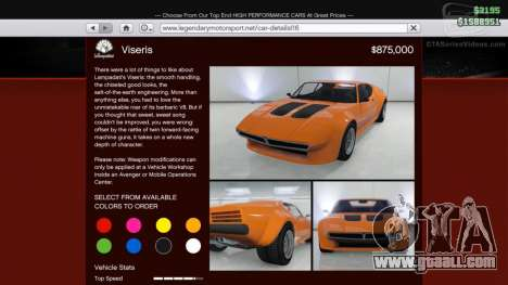 Lampadati Viseris in GTA Online