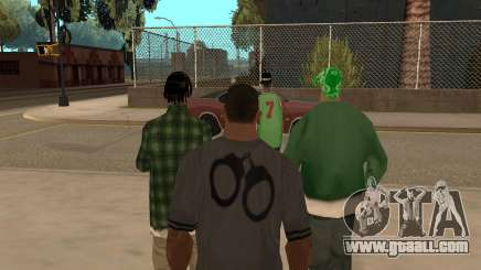 To hire a gang in GTA SA