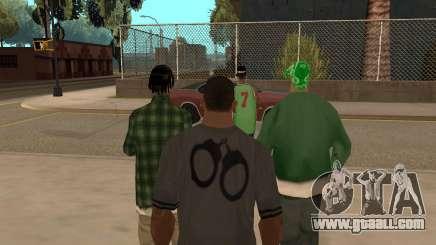 To hire a gang in GTA SA