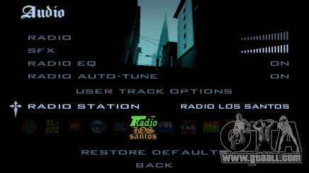 Radio tracks in GTA SA