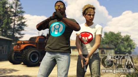 Gift t-shirts in GTA Online