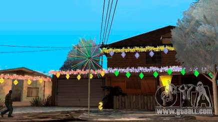 Christmas decoration in GTA San Andreas