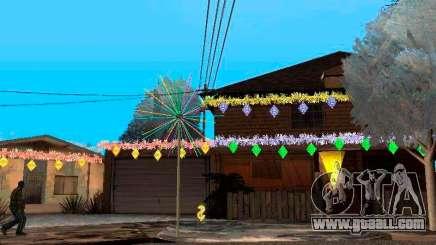 Christmas decoration in GTA San Andreas