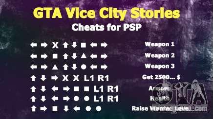 GTA VC cheats for PSP