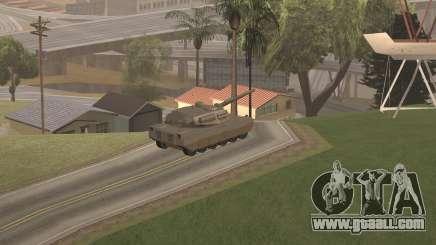 Stealing a tank in GTA SA
