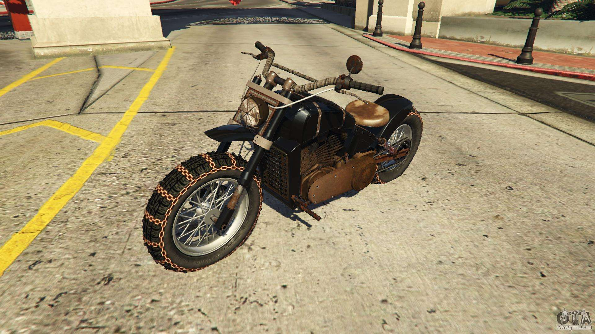 Front and main body view of the deathbike