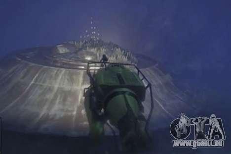 GTA 5 en Contrebas soucoupe volante (UFO)