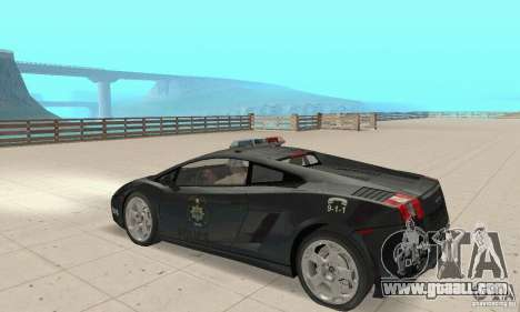 Lamborghini Gallardo Police for GTA San Andreas