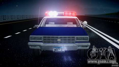 Chevrolet Impala Police 1983 for GTA 4 interior