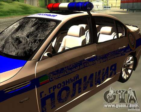 BMW M5 E60 Police for GTA San Andreas bottom view