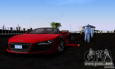 Audi R8 Spyder for GTA San Andreas right view