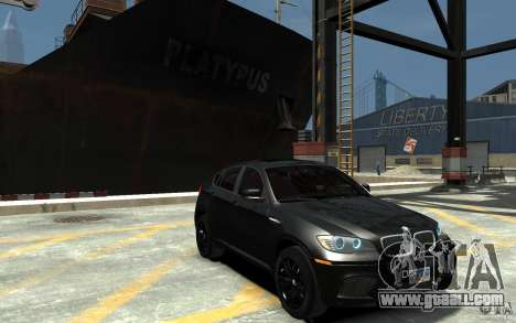 BMW X6 M for GTA 4 back view