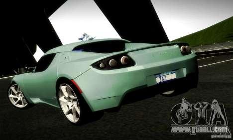Tesla Roadster Sport for GTA San Andreas back left view