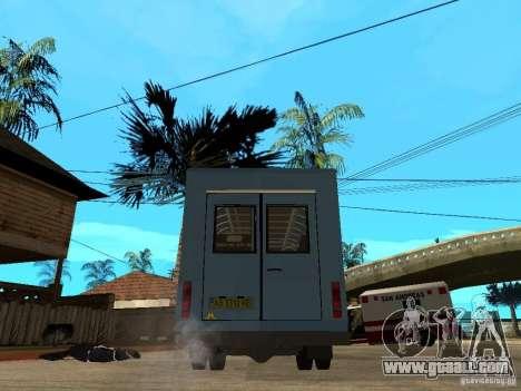 Gazelle Ruta for GTA San Andreas back left view