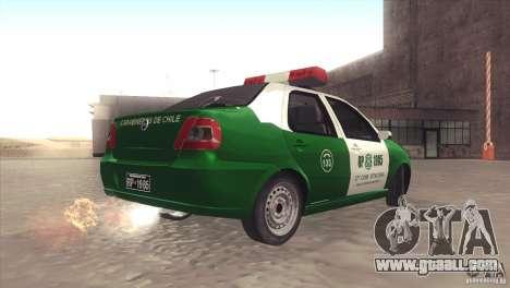 Fiat Siena Carabineros De Chile for GTA San Andreas left view