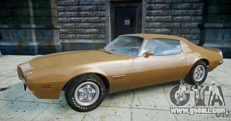 Pontiac Firebird 1970 for GTA 4 left view