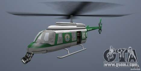VCPD Chopper for GTA Vice City back left view