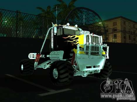 Kenworth W900 Monster for GTA San Andreas back view