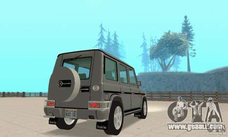 Mercedes-Benz G500 1999 v. 1.1 kengurâtnikom for GTA San Andreas left view
