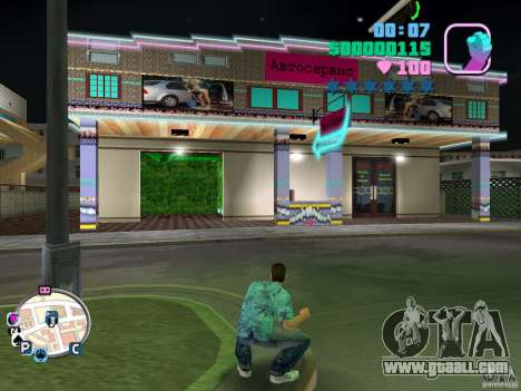 Autoservice and Sex Shop for GTA Vice City