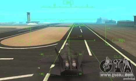 YF-22 Black for GTA San Andreas upper view