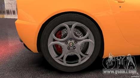 Alfa Romeo 8C Competizione for GTA 4 upper view