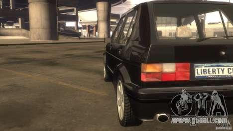 Volkswagen Golf for GTA 4 inner view