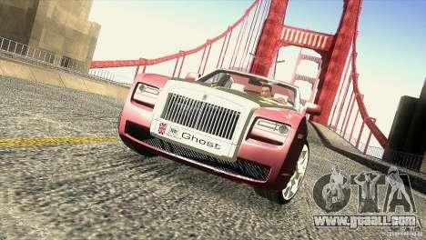 Rolls-Royce Ghost 2010 V1.0 for GTA San Andreas interior