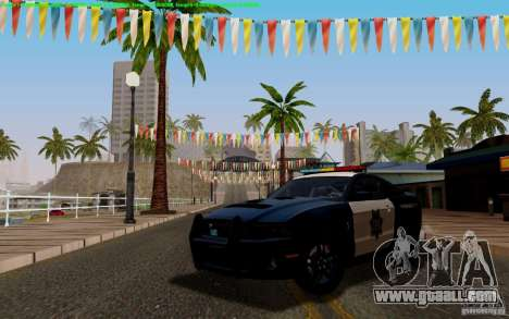Ford Shelby Mustang GT500 Civilians Cop Cars for GTA San Andreas inner view